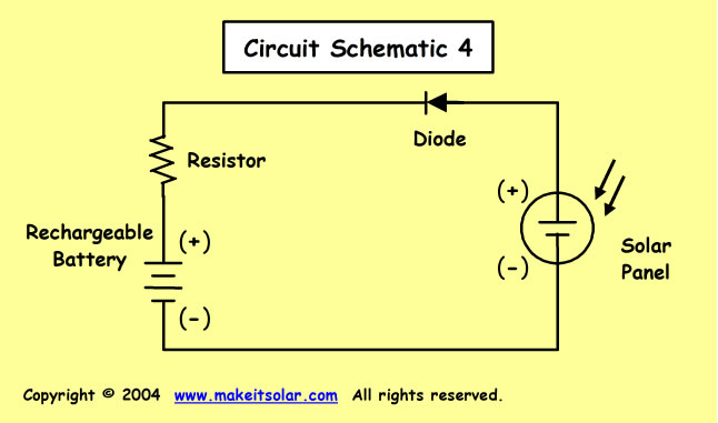 Science Fair Project Idea: Calculation exercise for a solar battery charger | Rechargeable Battery Wiring Diagram |  | Make it Solar